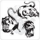Rat,Aggression,Sign,Sport,Animal,Horned,Rodent,Strength,Symbol,bloodlust,Mascot,Vector,Cruel,Ilustration,Furious,Fang