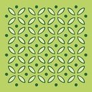 Polka Dot,Spotted,Pattern,Green Color,Circle,Symbol,Leaf,Ilustration,Objects/Equipment,Plants,Nature,Design,Computer Graphic,Religious Icon