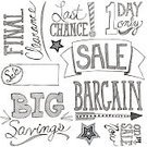 Savings,Doodle,Large,Drawing - Art Product,hand drawn,Black And White,Ilustration,Sale,hand lettered,Single Word,Big Savings,Final Clearance,Rastafarian,On Sale Now,1 Day Only,ISTEXT2012,Last Chance