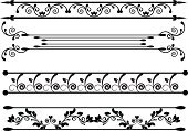 Floral Pattern,Dividing,Shape,Leaf,Decor,D.J. White,Elegance,Curve,Vector,Collection,Abstract,Ornate,Victorian Style