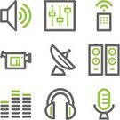 Symbol,Computer Icon,Speaker,Icon Set,Sound,Audio Available Online,Internet,Multimedia,Web Page,Remote Control,Home Video Camera,Contour Drawing,Simplicity,Microphone,Communications Tower,Green Color,Stereo,Interface Icons,Television Broadcasting,Video,Vector,The Media,Information Medium,Volume,Keypad,Electric Mixer,Record,Sound Mixer,Antenna - Aerial,SAT Reasoning Test,Silver Colored,Outline,Sign,Iconset,Volume - Fluid Capacity,Gray,Headphones,Equalizer