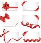 Vector,Symbol,Gift,Business,Ribbon,Bow,Paper,Sign,Backgrounds,Holiday,Single Object,Ilustration,Greeting Card,Red