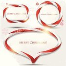 Text,Snowflake,Christmas,Set,Greeting,Color Image,Vector,Copy Space,Ilustration,Candy Cane,Banner