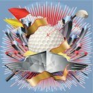 Sphere,Golf Flag,Golf,Backgrounds,Ball,Golf Ball,Chrome,Insignia,Ribbon,Golf Club,Galvanized,Exploding,Wing,Airplane,Bird,Square,Alloy,Cumulus Cloud,Majestic,Coat Of Arms,Golf Stick,Individual Sports,Star - Space,Cloudscape,Glowing,Copy Space,No People,Vector,Multi Colored,Star Shape,Big Bang,isolated object,Metal,Aluminum,Cloud - Sky,Ilustration,Three Dimensional,Ribbon,Three-dimensional Shape