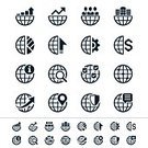 Globe - Man Made Object,Computer Icon,Symbol,Earth,Icon Set,Leadership,Check Mark,Searching,Global Business,Graph,Magnifying Glass,Pie Chart,Vector,Global Communications,Map,Dollar Sign,Office Building,Office Interior,Shield,Design Element,Chart,Interface Icons,Sign,Gear,Business,vector icons,Teamwork,Organization Chart,Map Pin
