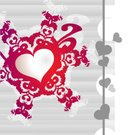 Red,Love,Pattern,Decoration,Wallpaper Pattern,Backgrounds,Heart Shape,Ornate,Ilustration,Valentine Card,Greeting Card,Computer Graphic,Vector