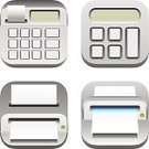 Calculator,Cash Register,Photocopier,Computer Printer,Silver - Metal,Variation,Counting,Keypad,Computer Icon,Flat Bed Scanner