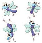 Mayfly,Gesturing,Dragonfly,Cute,Flying,Dragon,Action,Clip Art,Insect,Blue,Humor,Handstand,Collection,White Background,Multi Colored,Horse,Animal,Clipping Path,Damsels in Distress,Single Object,Series,Large Group Of Animals,Facial Expression
