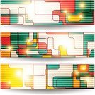 Two-dimensional Shape,Horizontal,Set,Backgrounds,Abstract,Vector,Geometric Shape,Banner