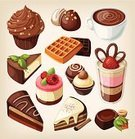 Cupcake,Chocolate Candy,Chocolate Cake,Symbol,Pudding,Candy,Cake,Retro Revival,Sweet Sauce,Pie,Mousse,Dessert,Old-fashioned,Dessert Topping,Ilustration,Chocolate,Drink,Coffee - Drink,Food,Pastry,Cooking,Muffin,Family,Waffle,Colors,Vector,Fast Food,Cafe,Snack,Gelatin Dessert,Design,Collection,Menu,Child,Cartoon,Cheesecake,Sweet Food,Belgian Waffle,Party - Social Event,Peanut,Offspring,Syrup,Cream,Lunch,Classic,Mint Leaf - Culinary,Slice Of Pie,Cup Of Chocolate,Ice Cream Sundae,Set,Design Element