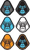 Gorilla,Animal Head,Computer Icon,Symbol,Vector,Primate,Mascot,Characters,Monkey,Zoo,Ape,Power,Fun,Identity,Black Color,Animals In The Wild,Portrait,Concepts,Set,Animal,Cartoon,Orangutan,Collection,Caricature,Insignia,Ilustration,Aggression,Furious,Computer Graphic,Label,Cute,Isolated,Chimpanzee,Animal Hair,Animal Mouth,Nature,Fur,White,Humor,Strength,Mammal