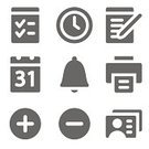 Time,Computer Icon,Symbol,Calendar,Icon Set,Personal Organizer,Bell,Calendar Date,Control,Printout,Vector,Document,Set,Computer Printer,Sign,Iconset,Keypad,Plus Sign,Editor,Writing,Profile View,Add,Control Panel,Direction,Note Pad,Interface Icons,user,Web Page,Series,Choice,Delete Key,Fire Alarm,Internet,Clock,Alarm Clock,Palmtop,Silver Colored,Gray,Connection