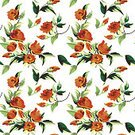 Rose - Flower,Rosé,Pattern,Floral Pattern,Textile,Vector,Flower,Backgrounds,Wallpaper Pattern,Design,Tile,Ilustration,seamless pattern,seamless wallpaper,Repetition,Orange Color,Nature,Illustrations And Vector Art,Flowers,Color Image,No People,Clip Art,Seamless Repeat