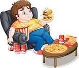 Sitting,Sofa,Overweight,Men,Prepared Potato,Fat Cell,Circle,Bench,Image,Refreshment,Food,Drink,French Fries,Popcorn,Hamburger,Computer Graphic,Table,Pizza,Snack,Burger,Italian Culture,Wood - Material,People,Soda,Can,One Person,Backgrounds,Chopped,Cola,Male,Little Boys,Foam,Isolated