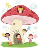 Mushroom,Education,Color Image,Ilustration,Vector