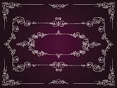 Ornate,filigree,Frame,Retro Revival,Vector,Intricacy,White,Old-fashioned,Floral Pattern,Angle,Ilustration,Flourish,Color Gradient,Outline,Cartouche,Decoration,Swirl,Antique,Design,Surrounding,Beauty,Symmetry,Art,curlicue,Classic,Curve,Victorian Style,Pattern,Design Element,Purple,Dark,Classical Style,Elegance,foliate
