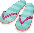 Computer Graphic,Backgrounds,Scale,Multi Colored,Walking,Slipper,instep,Shoe,Comfortable,Pink Color,Blue,Summer,Beach,Sandal,houseshoe,Image,Outdoors,Striped,Pair,Indoors,right