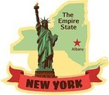 New York State,Map,Albany - New York State,Travel,USA,Label,Luggage Tag,East Coast,Statue of Liberty,US State Border,Travel Sticker,Luggage Sticker,Famous Place,Tourism,Capital Cities