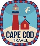 New England,Cape Cod,Lighthouse,Red,Label,Vacations,Postage Stamp,Tourism,Massachusetts,Luggage Tag,Seagull,Travel Sticker,Travel,East Coast,Beach,Summer,USA