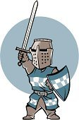 Knight,Medieval,Clip Art,Sword,Suit of Armor,Ilustration,Shield,Vector
