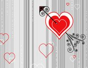 Cupid,Valentine's Day - Holiday,Heart Shape,Valentine Card,Backgrounds,Love,Romance,Striped,Cupid's Arrow,Objects/Equipment,Red,Holiday,Dating,Flirting,Arrow Symbol,Passion