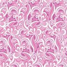 Doodle,Repetition,Backgrounds,Abstract,Ilustration,Vector,Wave Pattern,Pink Color,Old-fashioned,Decor,hand drawn,Seamless,Decoration,Leaf,Pattern,Nature,Wallpaper Pattern