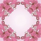 Ilustration,Abstract,Ornate,Lace - Textile,Floral Pattern,Vector,Decor,Sign,Snowflake,Mandala,Award Ribbon,Cute,Pink Color,Pattern,Decoration,Napkin,Shape,Circle,Mosaic,Symmetry,Computer Graphic,Backgrounds,filigree