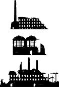 Old Ruin,Factory,Ruined,Silhouette,Tower,Construction Industry,Halloween,Industrial,Brick,Vector,City Life,Damaged,Industry