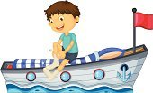 Striped,Little Boys,Bed,Nautical Vessel,Sailor,Sock,Computer Graphic,Male,Getting Dressed,Sea,Isolated,Blanket,Flag,Photograph,Men,White,Water,Pillow,Clip Art,Ship,People,Sailing,One Person,Red,Blue,Image,Backgrounds
