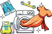 Laundry,Washing Machine,Front View,Open,Clean,Equipment,Shorts,Machinery,Clothing,Dress,Packing,Laundry Detergent,Vector,Bottle,Appliance,No People,Single Object,Dishwashing Liquid,Coathanger,Domestic Life,Housework
