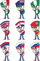 Flag,Portugal,Hat,One Person,Standing,Humor,Emotion,North Korea,Cheering,Cheerful,Fan,Mexico,Victory,Slovakia,Drum,Australia,Slovenia,Cartoon,Outline,Jeans,Country - Geographic Area,Eccentric,Characters,Vector,Joy,Sport,Soccer,Positive Emotion,Football,Men,Set,Isolated,Paraguay,Patriotism,Collection,Celebration,Ilustration,Nigeria