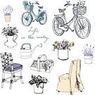Bicycle,Retro Revival,Basket,Old-fashioned,Vegetable,Drawing - Art Product,Furniture,Home Interior,Romance,Decoration,Silhouette,Rustic,Vegetable Garden,Flower,Painted Image,Sketch,Flower Pot,Non-Urban Scene,Indoors,Can,Green Color,Dog,Summer,Beauty In Nature,Rural Scene,Environmental Conservation,Ilustration,Gift,Cut Flowers,Greeting Card,fruits and vegetables,Hobbies,Vector,Flower Head,Plant,Pencil Drawing,Bouquet,Springtime,Elegance,Season,Nature,Old,Cultures,Lifestyles,Isolated,Wood - Material,Chair