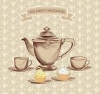 Afternoon Tea,Teapot,Label,Vector,Ilustration,Textile,Tea - Hot Drink,Cup,Kettle,Home Interior,Party - Social Event,Chinese Culture,Design,Style,Decoration,Decor,Backgrounds,Cute,Paintbrush,Pastry,Drawing - Art Product,Art,Muffin,Wallpaper Pattern,Love,Set,Old-fashioned,Porcelain,hand drawn,Domestic Kitchen,Classic,Cafe,Crockery,Drink,Abstract,Cooking Pan,Cultures,Seamless,Textured,Sketch,Ceramics,Mod,Retro Revival,Pattern,Victorian Style,Computer Graphic,Cupcake