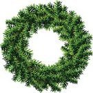 Wreath,Christmas,Christmas Tree,Holiday,Evergreen Tree,Pine Tree,Lush Foliage,New Year's Eve,Nativity Scene,Circle,Frame,New Year's Day,Green Color,New Year,Fir Tree,Isolated,Vector,Shape,Needle,Isolated On White,Decoration,Empty,Embellishment,Twig,Coniferous Tree,Symbol,Cultures,Wheel,Spruce Tree,Branch,Celebration
