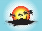 Palm Tree,Landscape,Dirty,Tree,Vector,Abstract,Time,Illustrations And Vector Art,Concepts And Ideas,Nature,Backgrounds