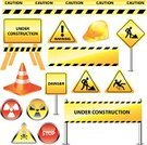 Road Sign,Vector,Set,Yellow,Street,Construction Site,Road Construction,Shiny,Safety,Danger,Alertness,At Attention,Placard,Design,Warning Sign,Stop Sign,Directional Sign,Road,Sign,Eps10,Highway,Help,Warning Symbol,Traffic,Working,Computer Icon