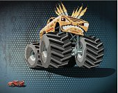 Monster Truck,Sport,Transportation,4x4,Tire,Land Vehicle,Wheel,Threats,Old-fashioned,Flame,Aggression,cartoon car,Textured Effect,Furious,Cartoon,Stained,Pick-up Truck,Car,Computer Graphic,Driving,Fun,No People,Old,Dirty,Motorsport,Off-Road Vehicle,Ilustration,Competition,Large,Biggest,Oversized,Vector,Retro Revival,Extreme Sports,Grunge