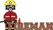 Badge,Cute,Axe,Cartoon,Alphabet,Protective Mask - Workwear,Smiling,Gas Mask,Work Helmet,Clip Art,Fire Station,Firefighter,Assistance,Modern,Smoke Jumper,Ilustration,Cool,Learning,Education,Occupation,Uniform,Equipment,Arson,Heroes,Vector,Letter F,Emergency Services Occupation,Emergency Services,Characters,Isolated