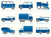 Bus,Car,Land Vehicle,Silhouette,Image,Ilustration,Computer Graphic,Transportation,Vector