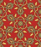 Silk,Yellow,Wallpaper Pattern,Floral Pattern,Backgrounds,Pattern,Elegance,Baroque Style,Red,Seamless,Repetition,Old,Green Color,Ilustration,Retro Revival,Classic,Vector,Antique,Abstract,Swirl,Ornate