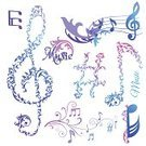 Simplicity,Design Element,Musical Note,Music,Ilustration,Color Image,Vector