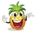 Pineapple,Human Face,Facial Expression,Fruit,Food,Clip Art,Yellow,Facial Mask - Beauty Product,Ingredient,White Background,Smiling,Computer Graphic,Humor