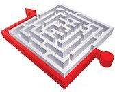 Maze,Determination,Direction,Solution,Puzzle,Action,Arrow,Success,Strategy,Inspiration,Red,Planning,Outline,Arrow Symbol,Decisions,Three-dimensional Shape,Footpath,Ideas,Circle,Square Shape,Guidance,Concepts,Problems