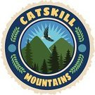 Hiking,Mountain,Catskill Mountains,New York State,Vacations,upstate,US State Border,Label,Travel,Insignia,Luggage Tag,Seal - Stamp
