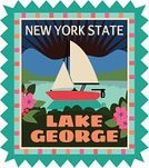 Lake,New York State,Sailing,Lake George,upstate,Sailboat,Travel Sticker,Summer,upstate new york,Luggage Tag,Travel,People Traveling,Label,Vacations