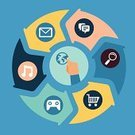 Infographic,Circle,Abstract,Symbol,Computer Icon,Mobile Phone,Technology,Vector,Computer Software,Application Software,Internet,Sign,Touch Screen,Concepts