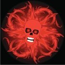 Human Skull,Devil,Flame,Fire - Natural Phenomenon,Vector,Evil,Red,Horror,Backgrounds,Burning,Illustrations And Vector Art,People,Concepts And Ideas,Dead Person,Spooky,Ilustration,handcarves