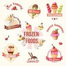 Food,Cold - Termperature,Sweet Sauce,Ice Cream,Dessert Topping,Sorbet,Yogurt,Ice,Brown,Sign,Design,Chocolate,Computer Graphic,Label,Dessert,Set,Cherry,Strawberry,Multi Colored,Collection,Decoration,Symbol,Sweet Food,Couverture Chocolate,Fruit,Merchandise,Frozen,Ice Cream Cone,Ilustration,Vector,Waffle