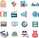 Symbol,Hollywood - California,Flat,Ticket,Film Reel,Icon Set,Star Shape,Movie Theater,Popcorn,Video,Ilustration,Vector,Film Industry,Movie,Design Element,Camera Film,Director,Film,Showing,Megaphone,The Media,Design,Three Dimensional,Internet,Entertainment,Film Slate,Eyeglasses,Theatrical Performance,Retro Revival,Isolated,Computer Monitor,Leisure Activity,Sign,Set,Projection Screen,Television Set,Television Broadcasting,Multimedia,Cinematographer,Computer Graphic,Relaxation,Recreational Pursuit,Chair,Camera - Photographic Equipment,Modern
