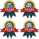 Anniversary,40th,50th,Number 25,years,Number 100,Life Events,Number 40,Number 50,Red,Achievement,Medal,Blue,Computer Graphic,100th,Shiny,Set,Vector,Symbol,Clip Art,Isolated,Celebration,Ilustration,Award Ribbon,Award,Badge
